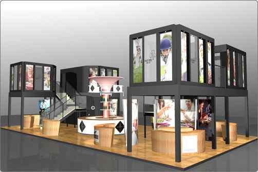Exhibition Stand Design Illustrator : Welcome exhibition stand design and illustration