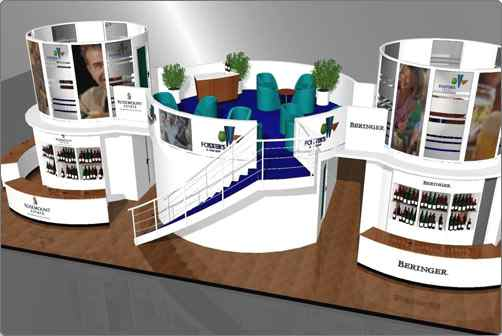 Design services exhibition stand design and illustration for Kitchen set expo