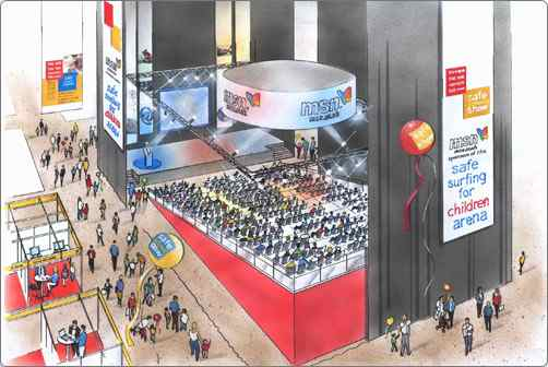 Exhibition Stand Design Illustrator : Illustration services exhibition stand design and